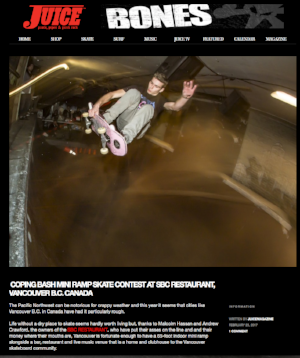 Juice Magazine coverage and photos of Coping Bash