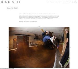 kingshit magazine photo coverage of coping bash
