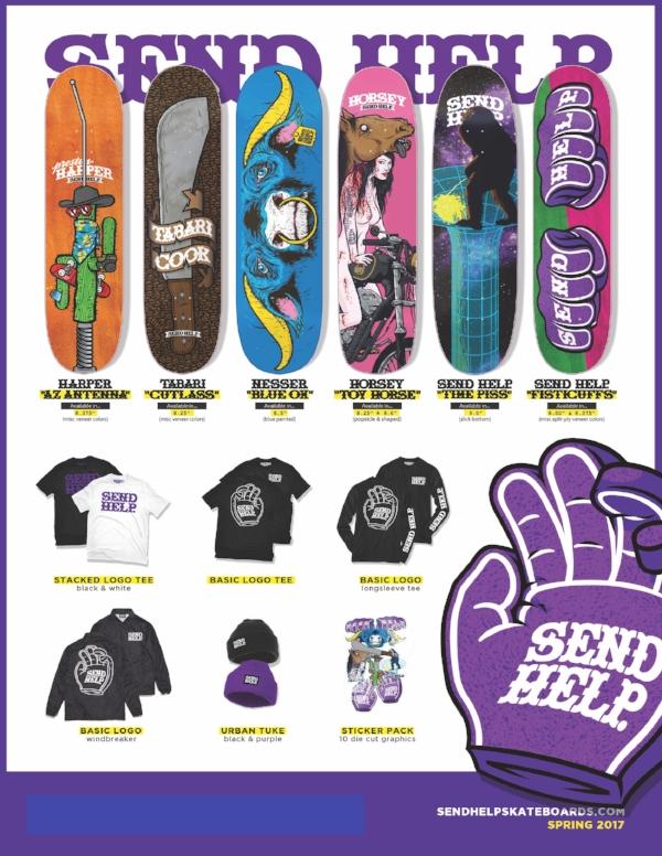 SP17 SENDXHELP Skateboards Catalog