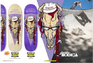 Justin Monica Send Help Skateboards