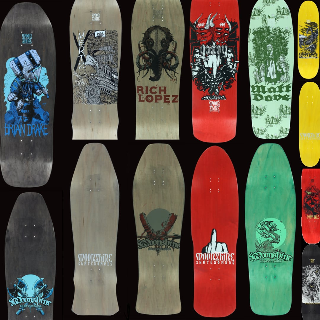 Moonshine Skateboards Vert and Freestyle shapes