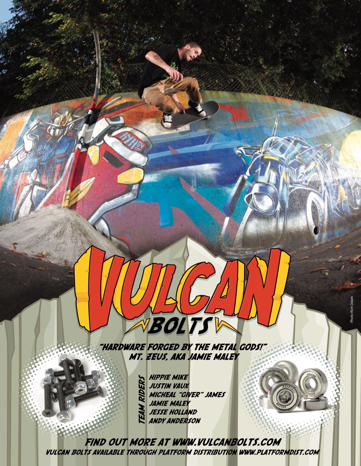 Our first Vulcan Bolts ad in Concrete Magazine