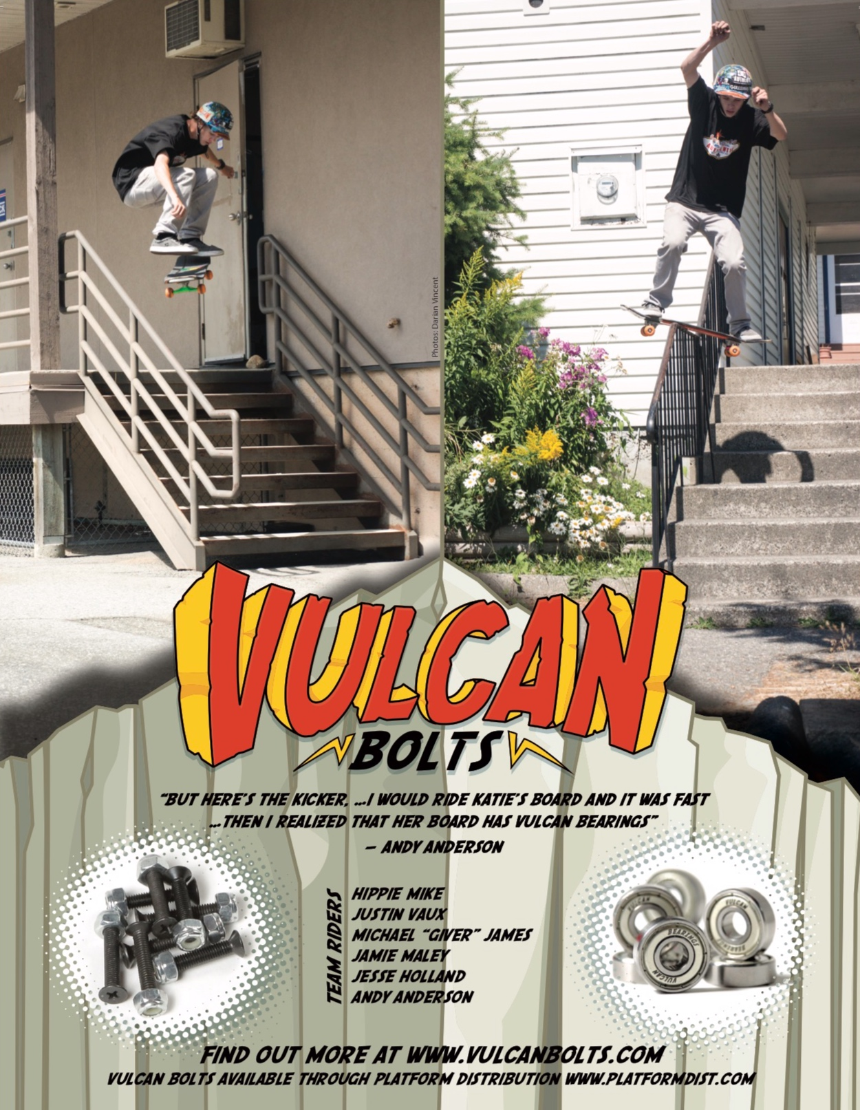 Andy Anderson ad for Vulcan Bolts in Concrete Magazine