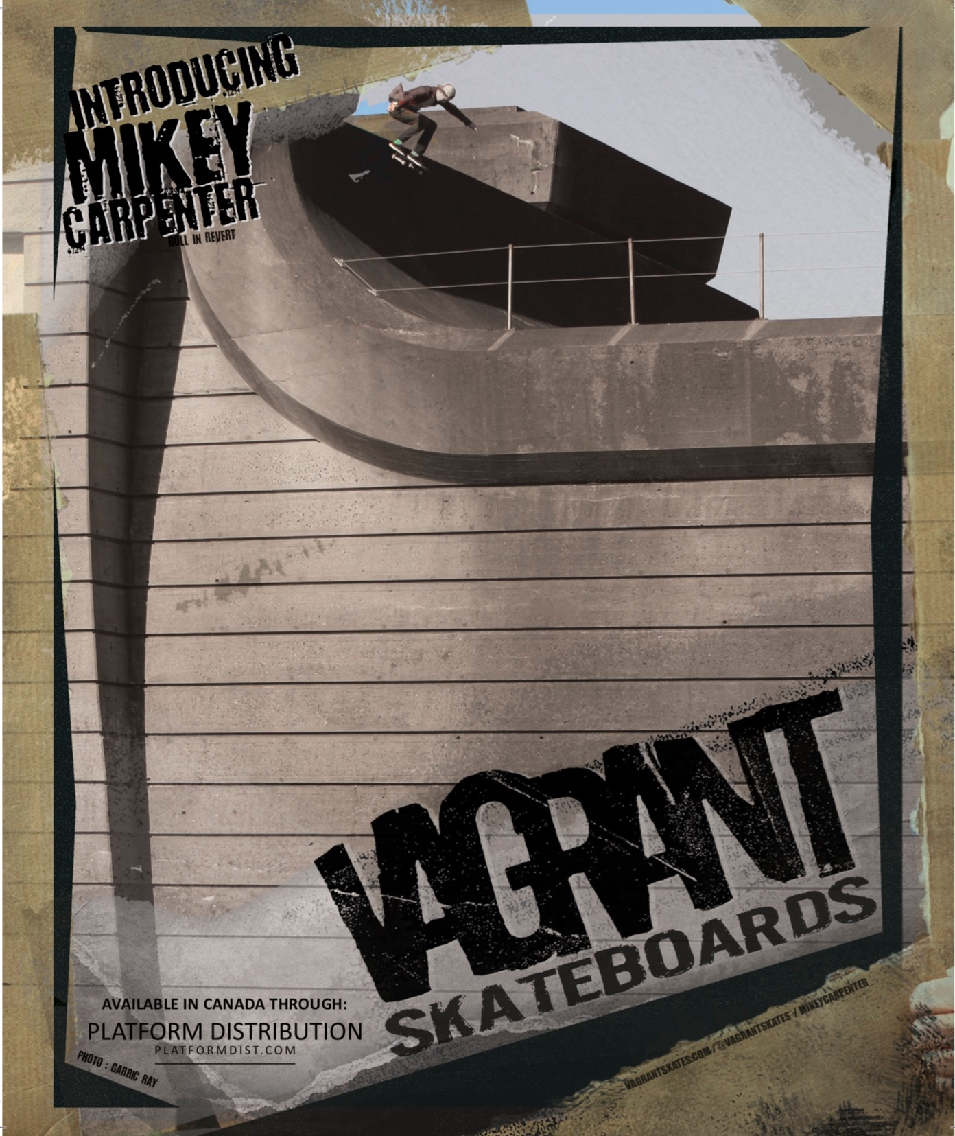 King Skate ad for Vagrant Skateboards