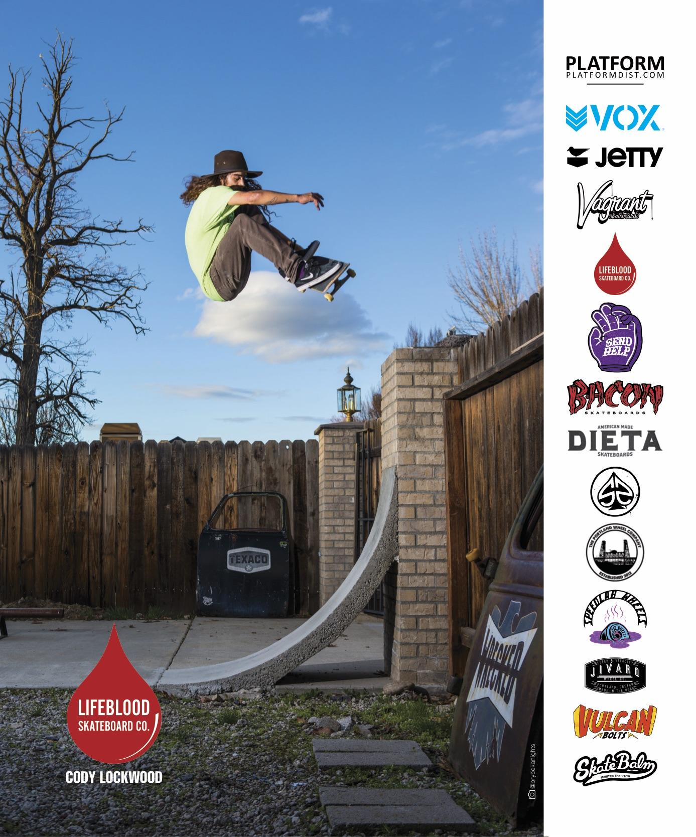 Lifeblood Skateboards ad from King Skate mag