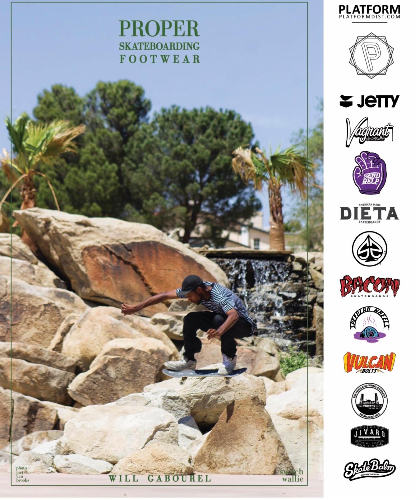 Proper Footwear ad feat Will Gabourel in SBC Skateboard