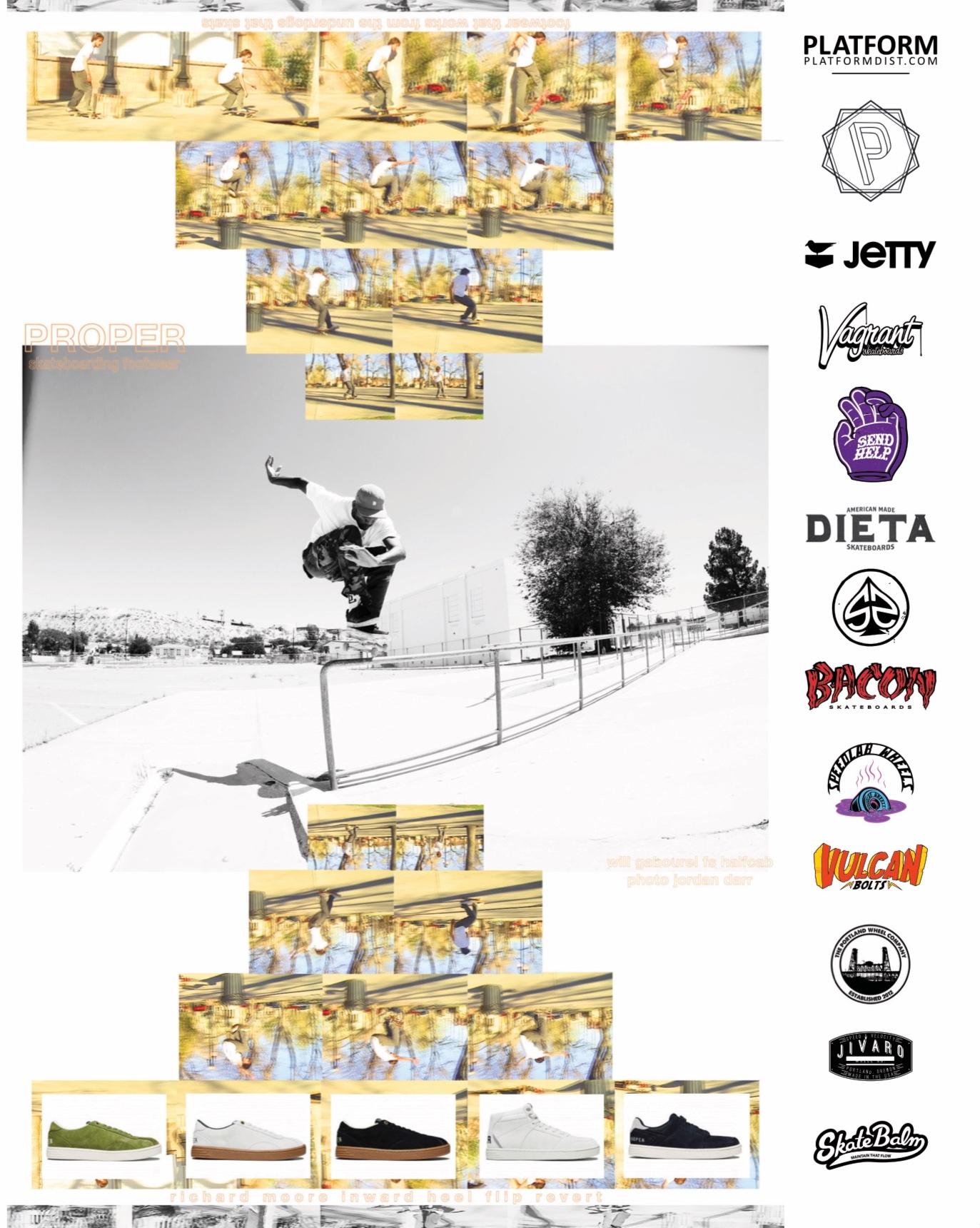 Proper footwear ad in SBC Skateboard
