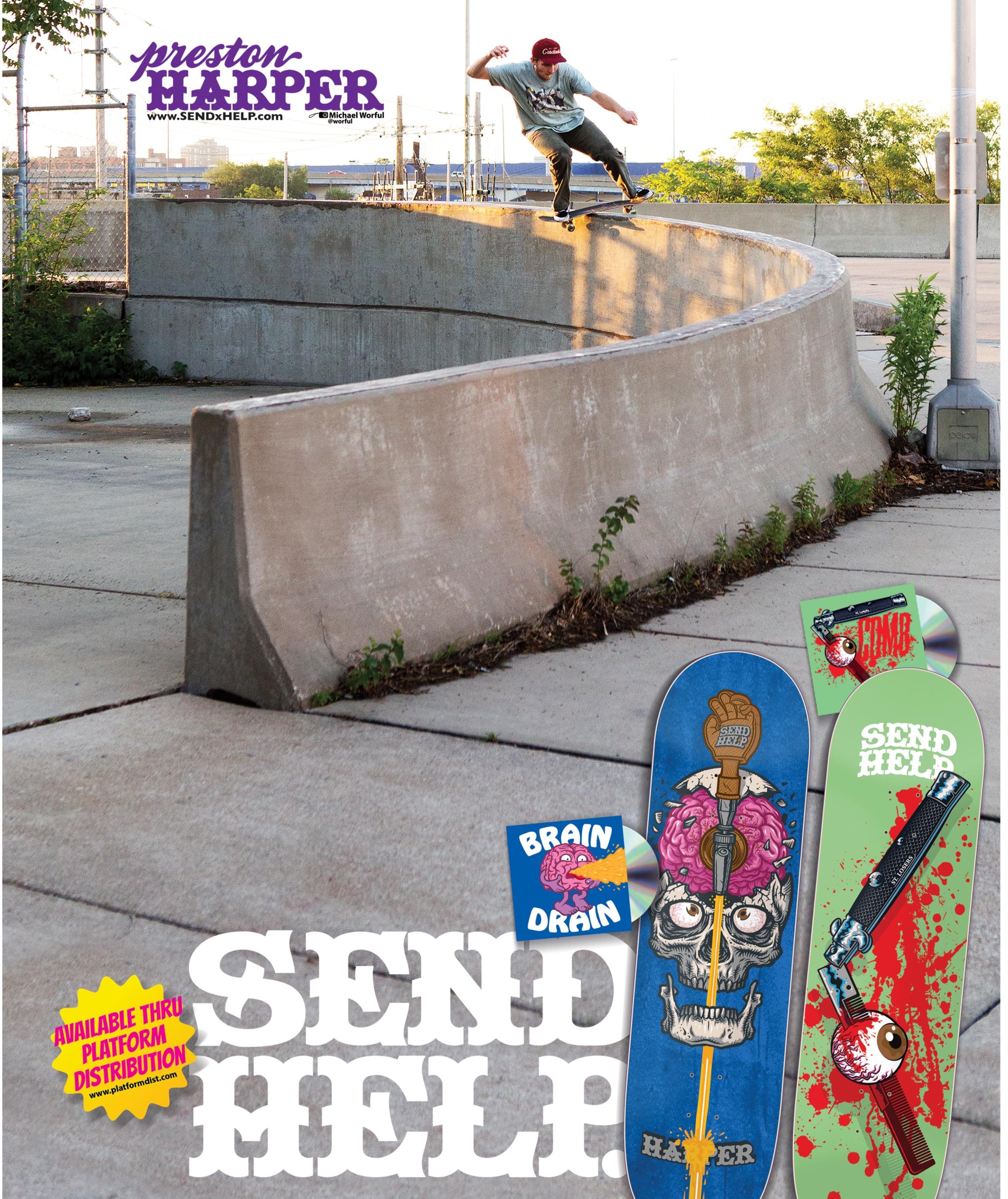 Preston Harper taking the curve in King Skate magazine