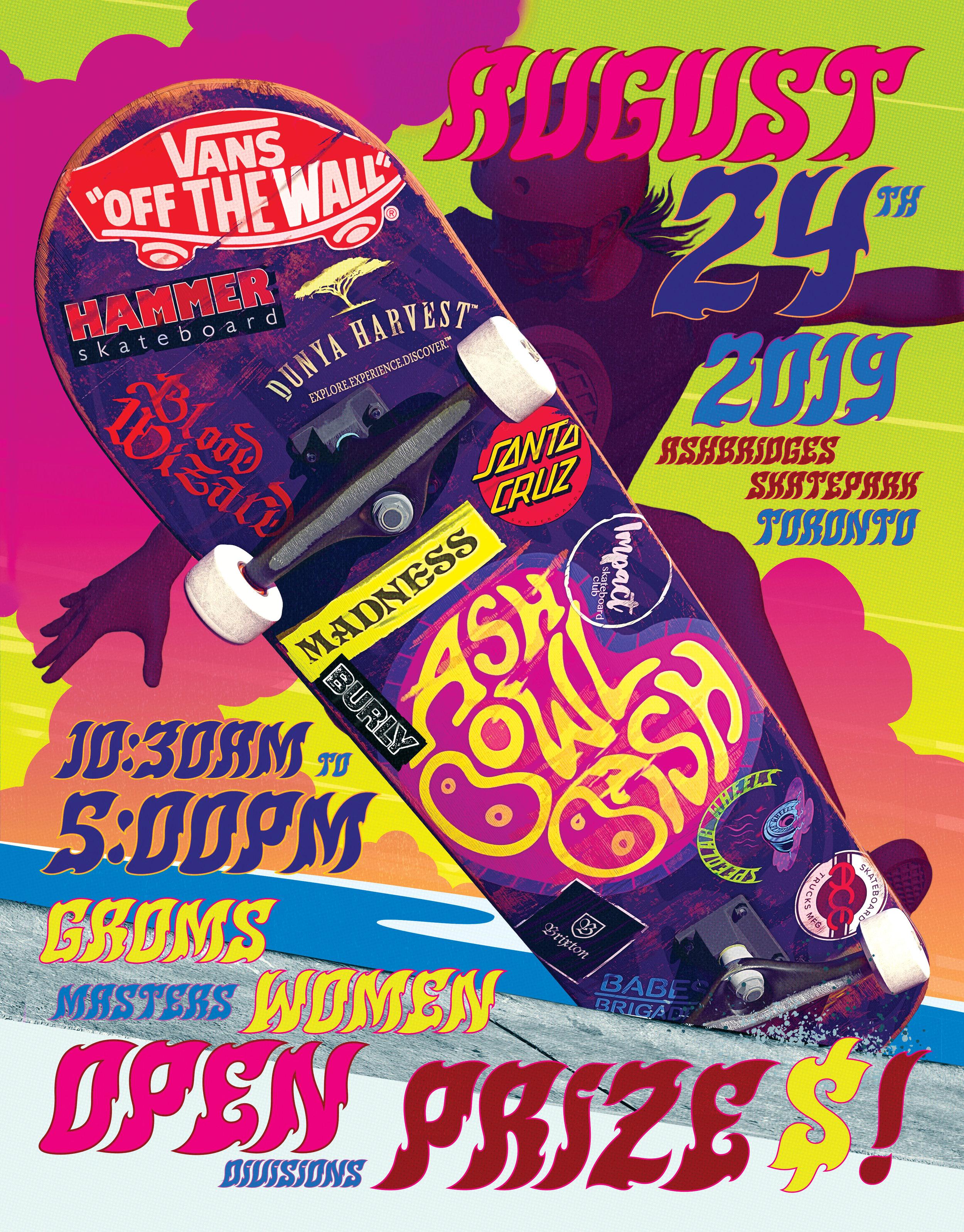 2019 Ash Bowl Bash poster.