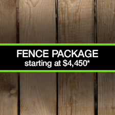 Based on 150 linear feet of pressure treated fence with one gate. Fortress 1 style fencing.