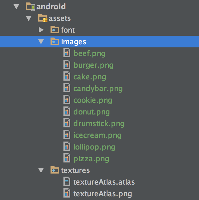 Android assets folder
