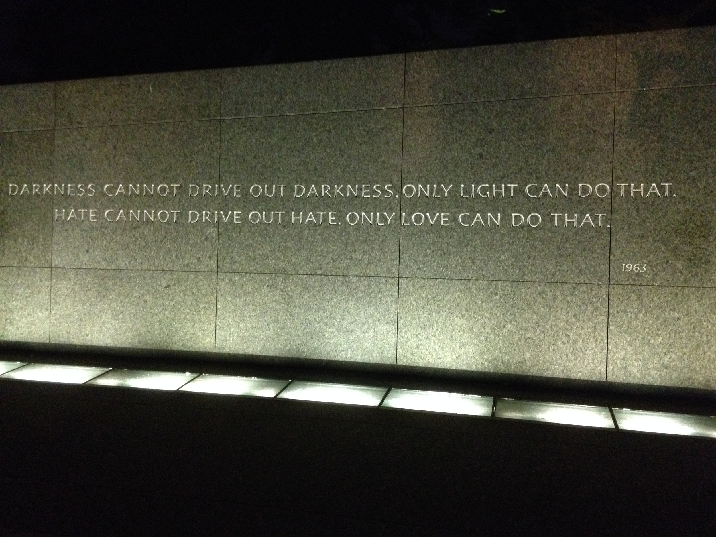 from the Martin Luther King Memorial - so beautiful.