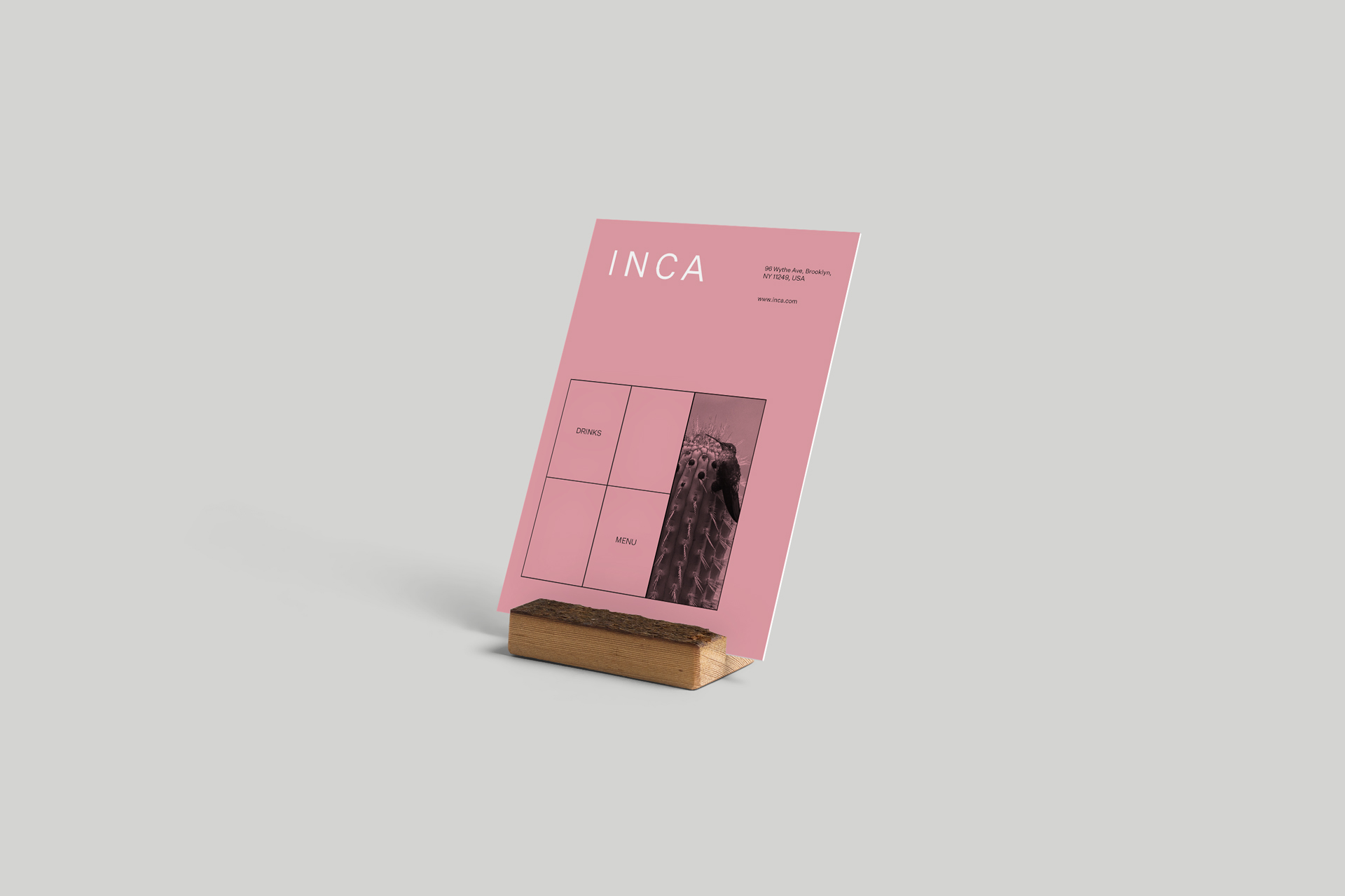 INCA - menu design