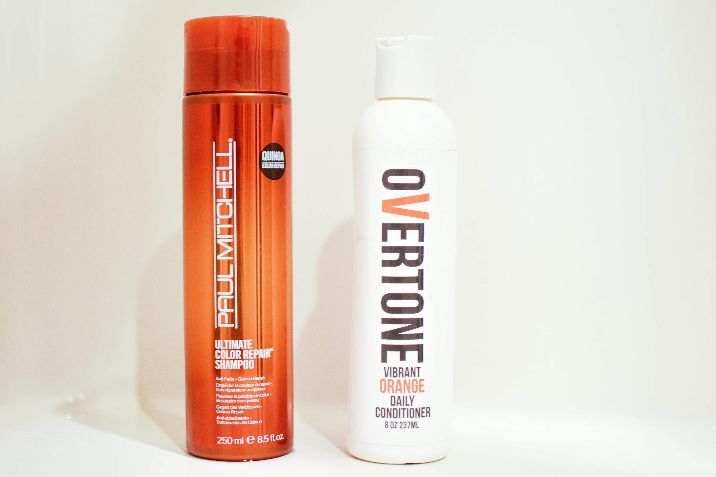Paul Mitchel Color Repair Shampoo  and  Overtone Vibrant Orange conditioner