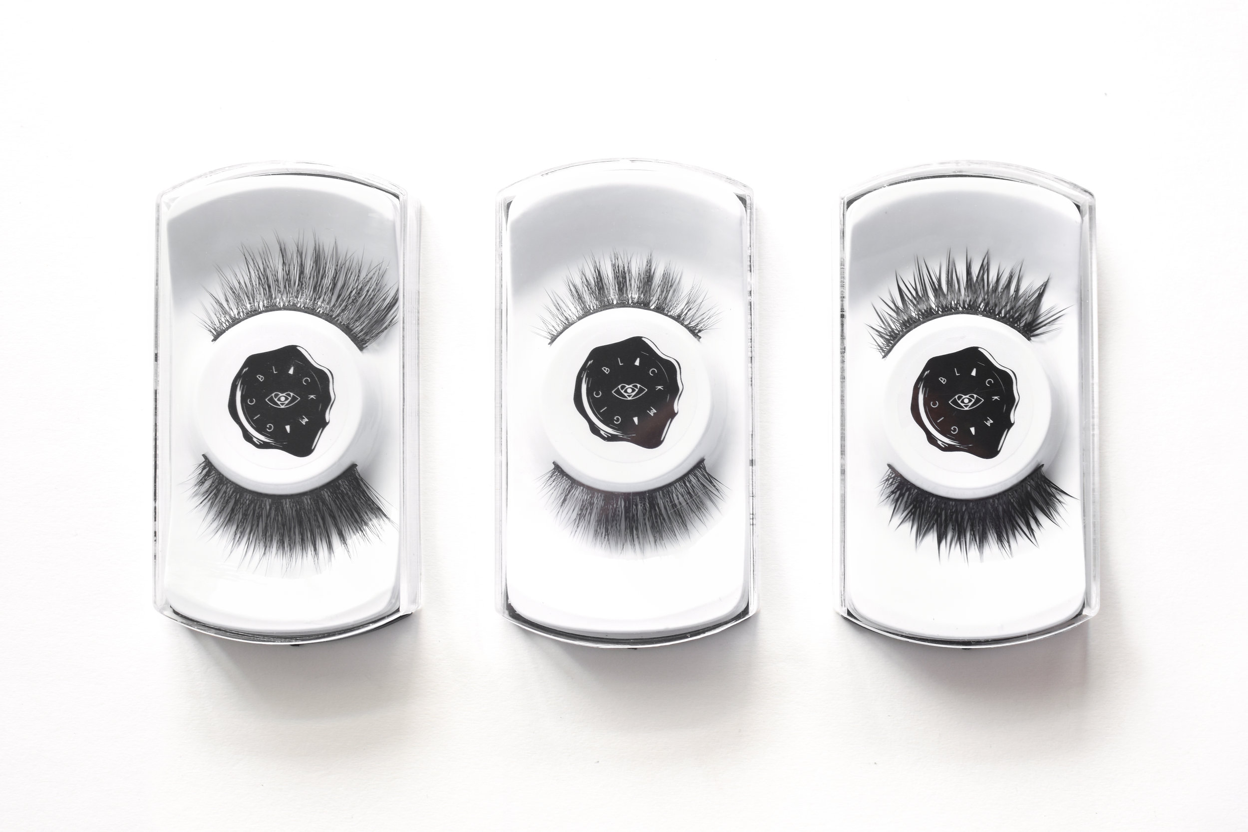 These are the  Luxe faux mink lashes from the Epic Collection  (left to right):  Luminarra ,  Alpha Girl ,  Noctura