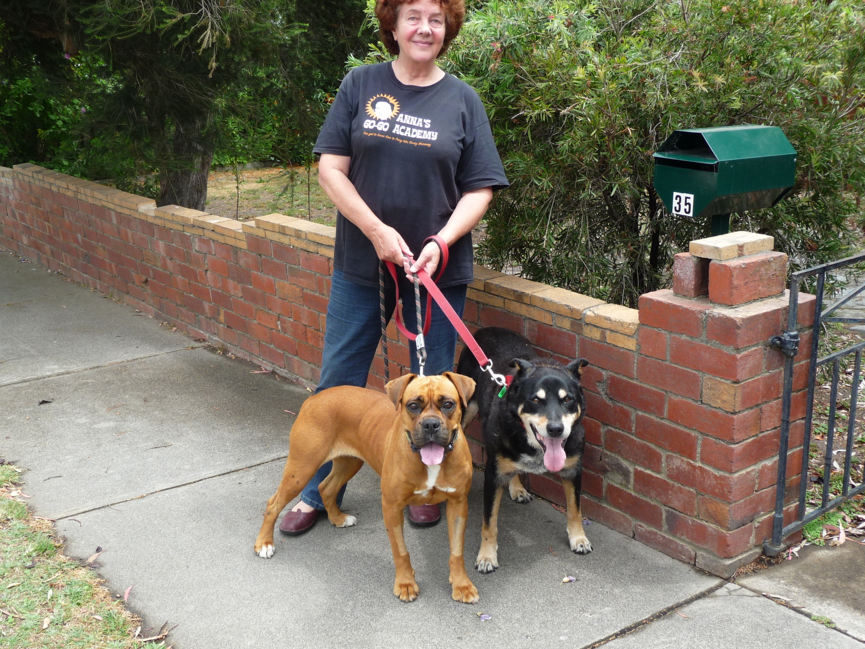 With my beloved dogs, Becky and Bennie