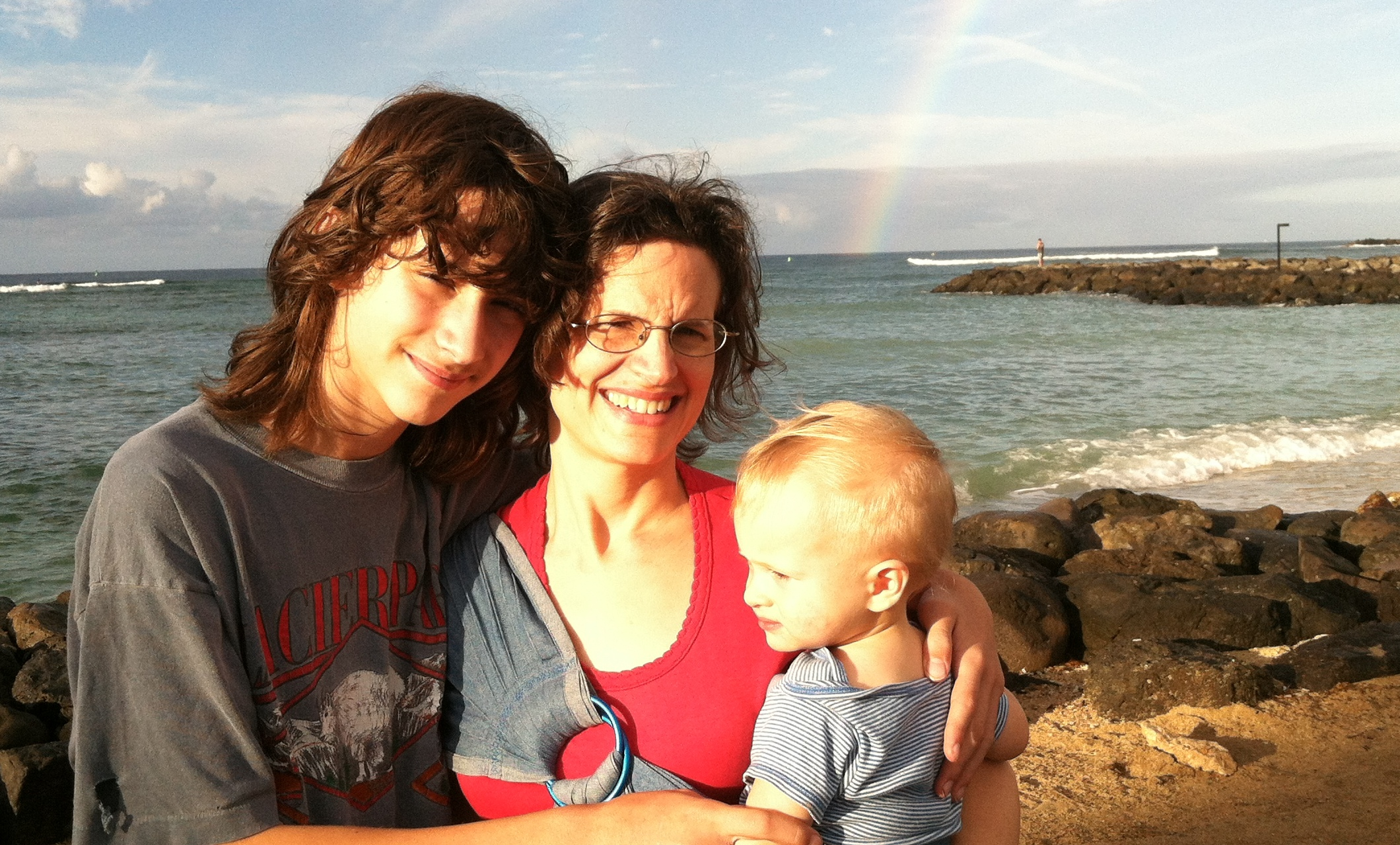 My boys and me in Hawaii, November 2012