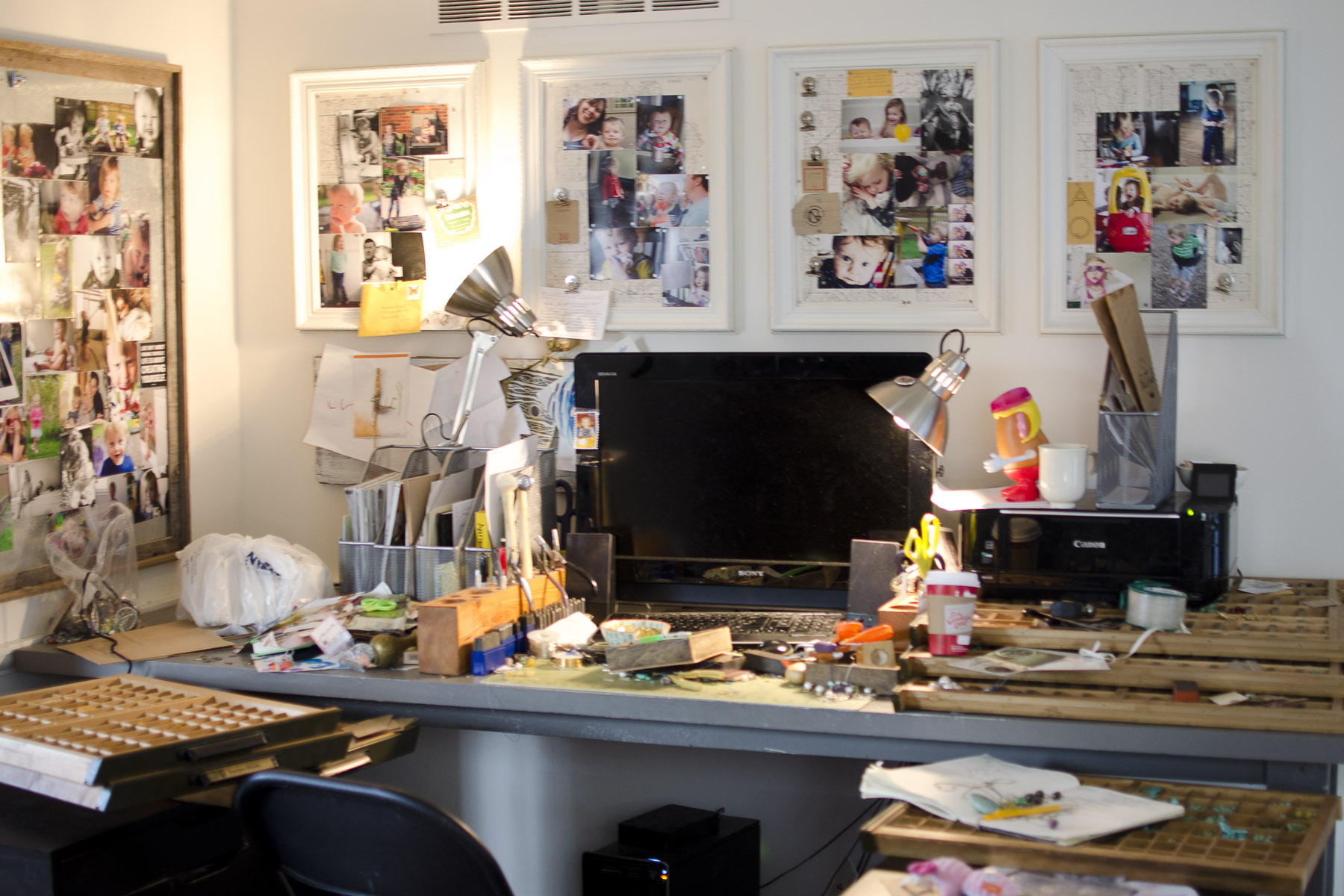Where I work. A little messy! I know :)