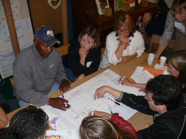 Community meeting during masterplanning process