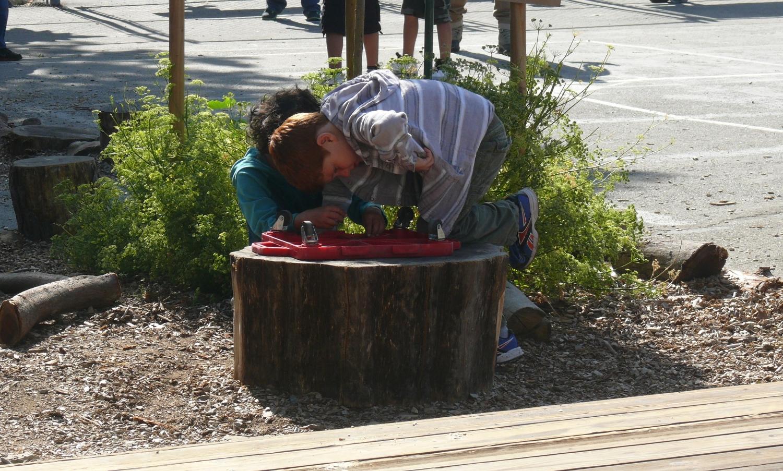 Active play in outdoor classroom