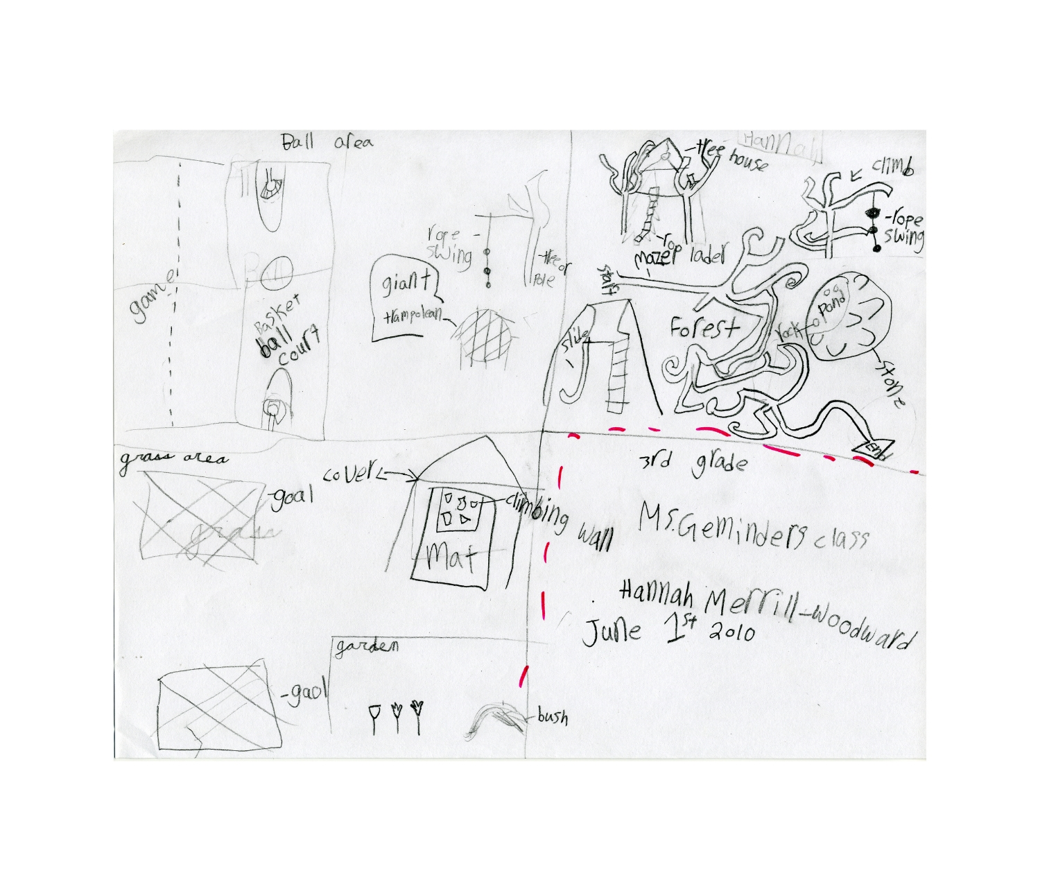 Student drawing for masterplanning process