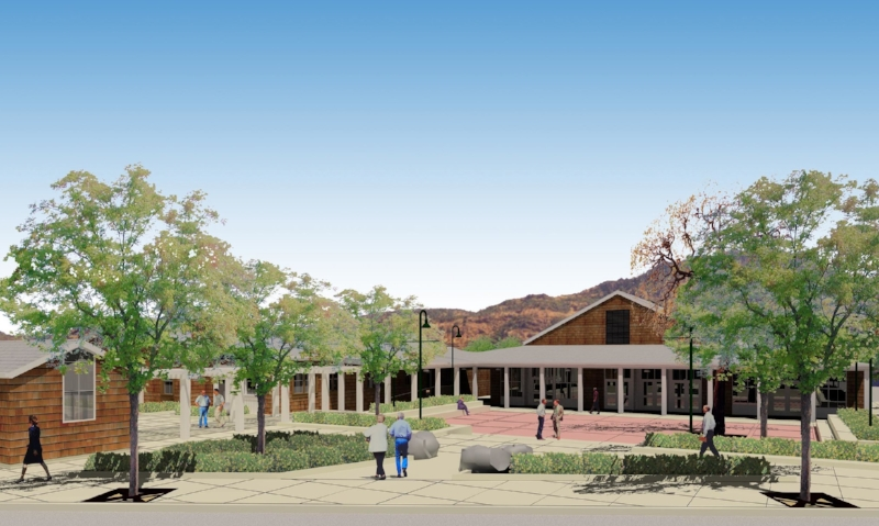 Town Square rendering by Susi Marzuola