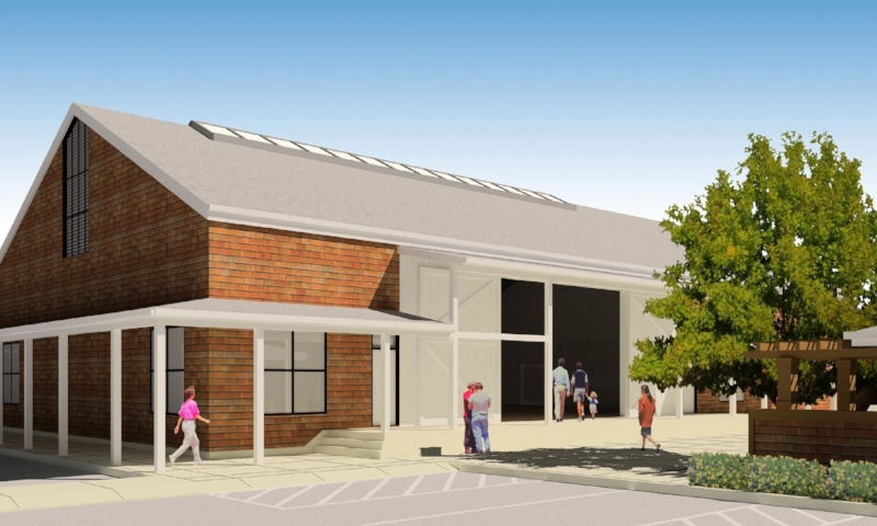 Community Center rendering by Susi Marzuola