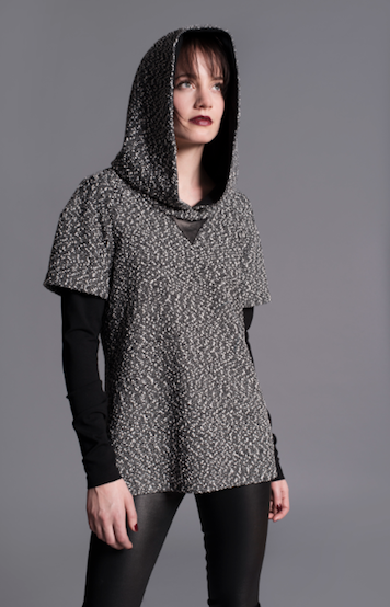 Add instant cool factor to a layered look with  Ammara 's Mixed Media Hoodie ($295)