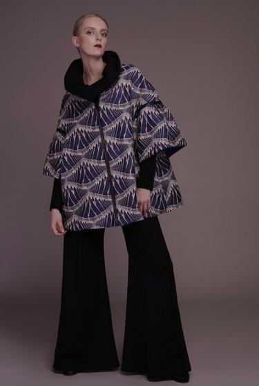 Stop traffic with  Staci Snider's  Poncho Universel ($765) - the perfect layering piece with the most gorgeous, unique print.