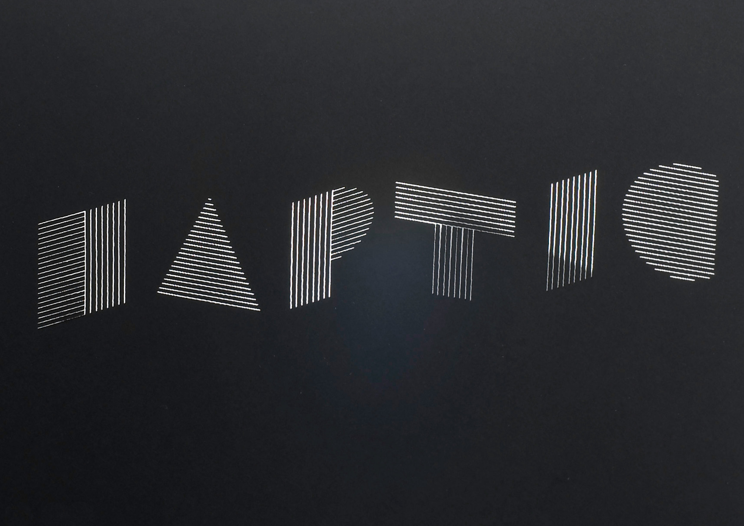 Haptic - Visual identity for a London based architectural practice that specialises in 'haptical' or tactile architecture.