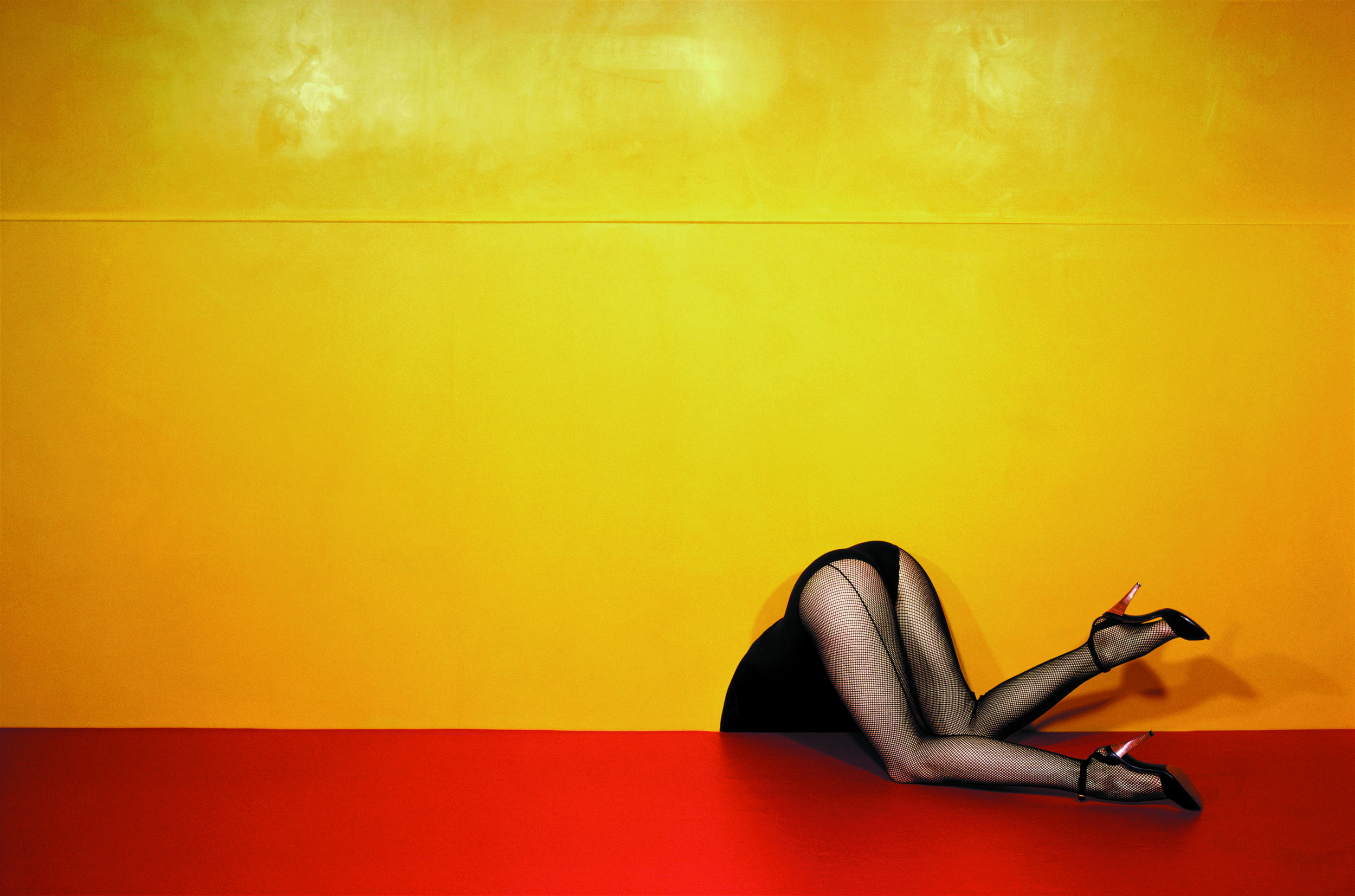 Guy Bourdin exhibition and book design - Exhibition and book design for an exhibitionof renowned photographer Guy Bourdin at Somerset House.