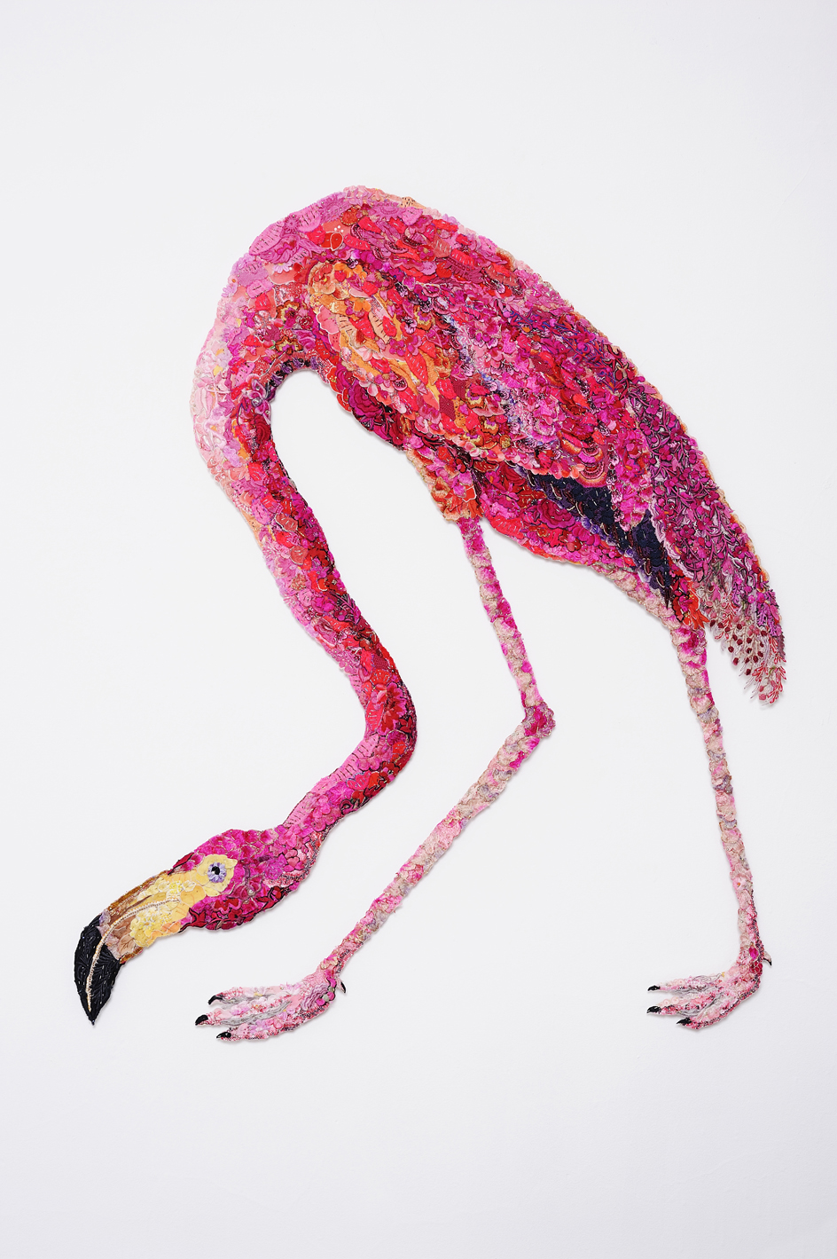 Flaming Flamingo 2011 after John James Audubon 1838