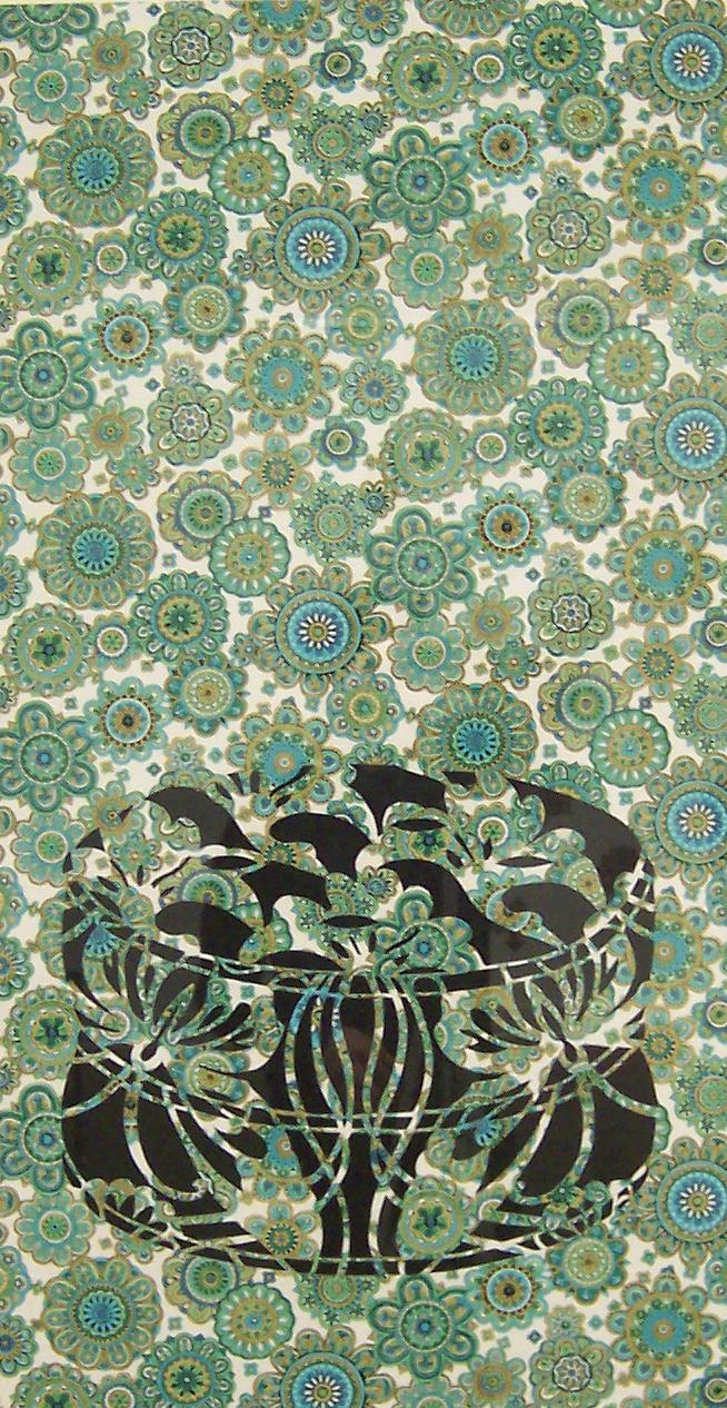 Flower-power Ottoman 2004