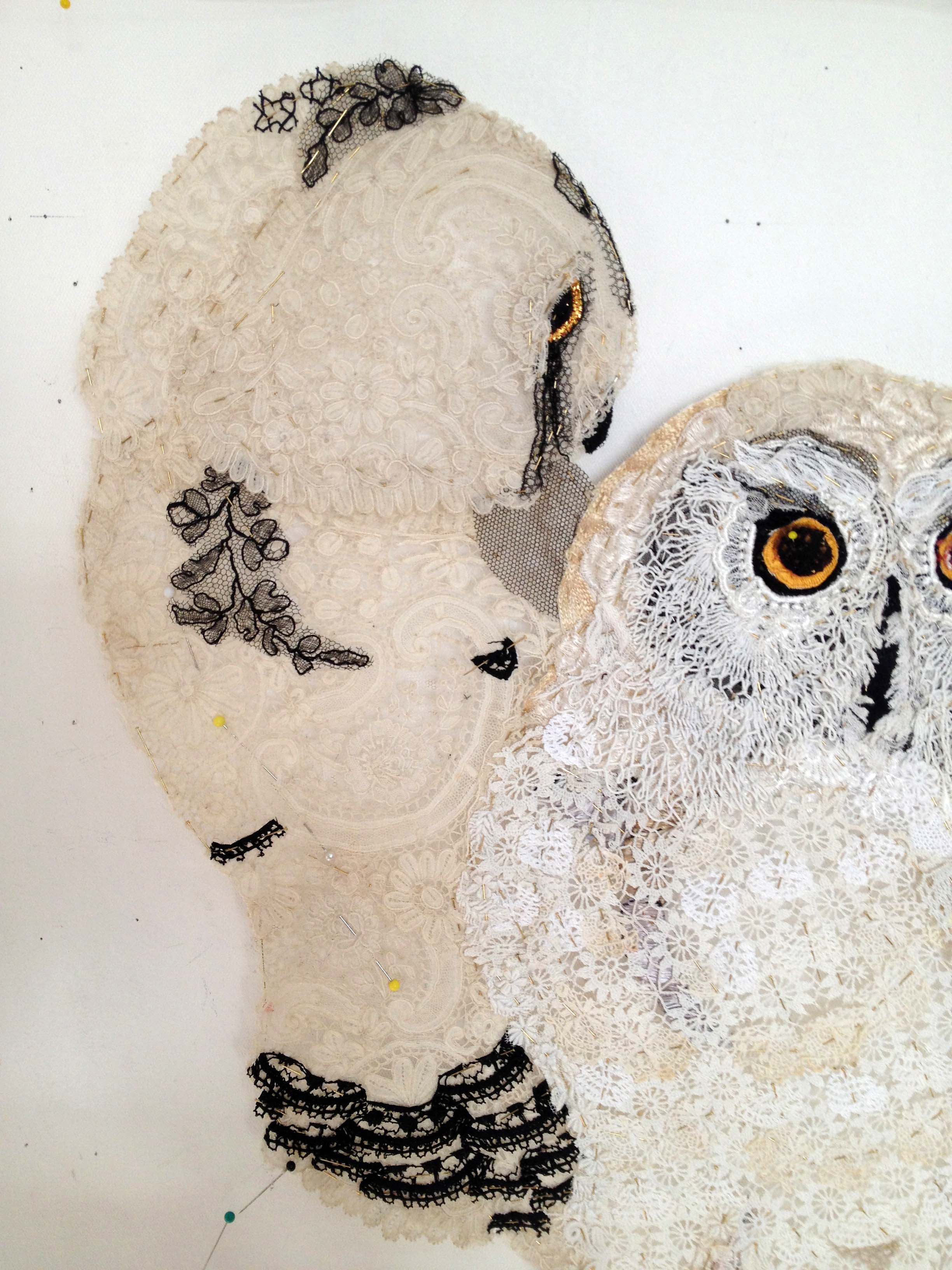 Snowy owls after Lear