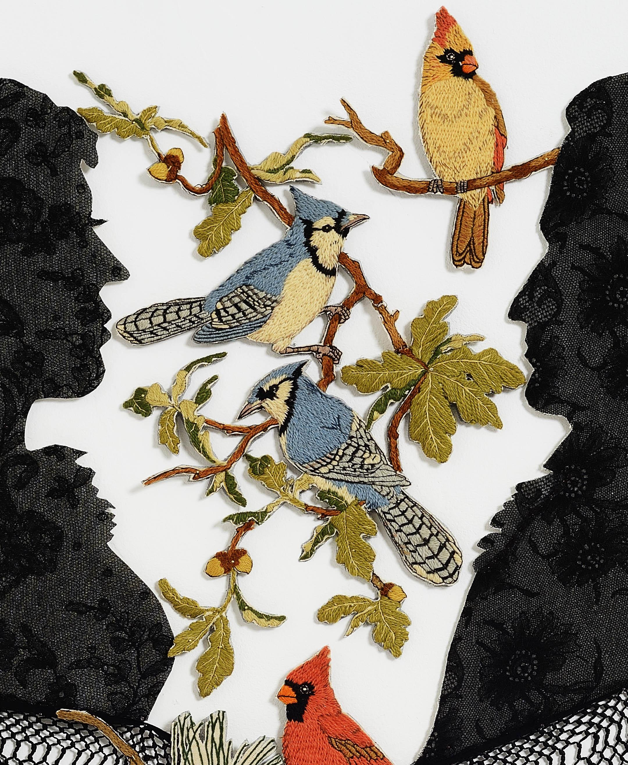 Detail- Silhouettes (the Audubon Suite) after Thomas Edwards 1825