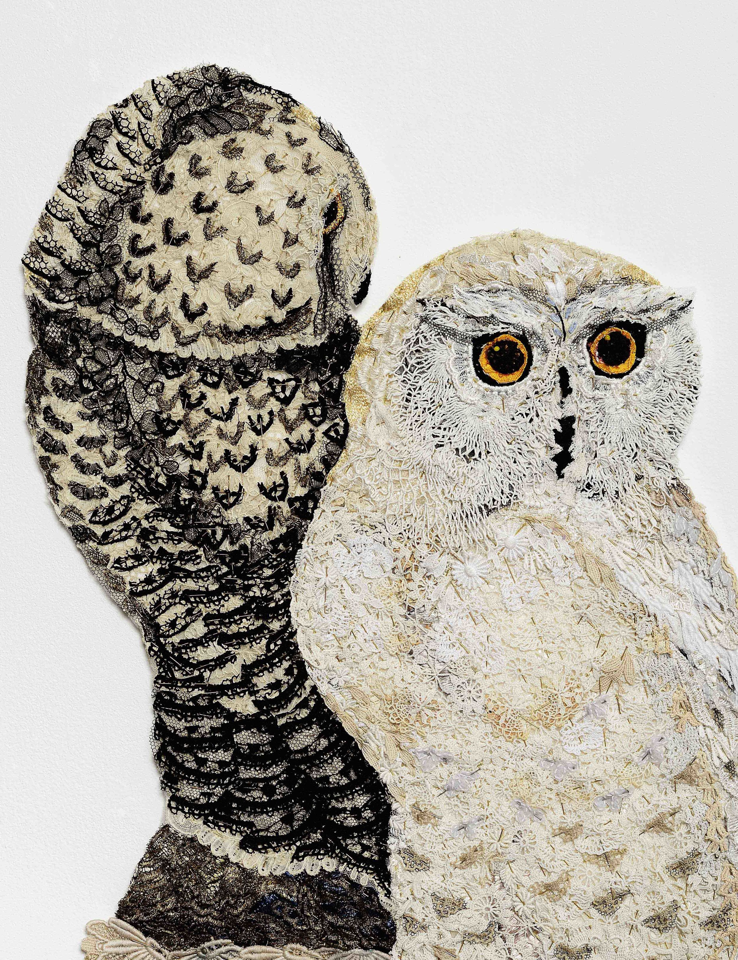 Detail - Bubo & Snow 2014 after Edward Lear 1832