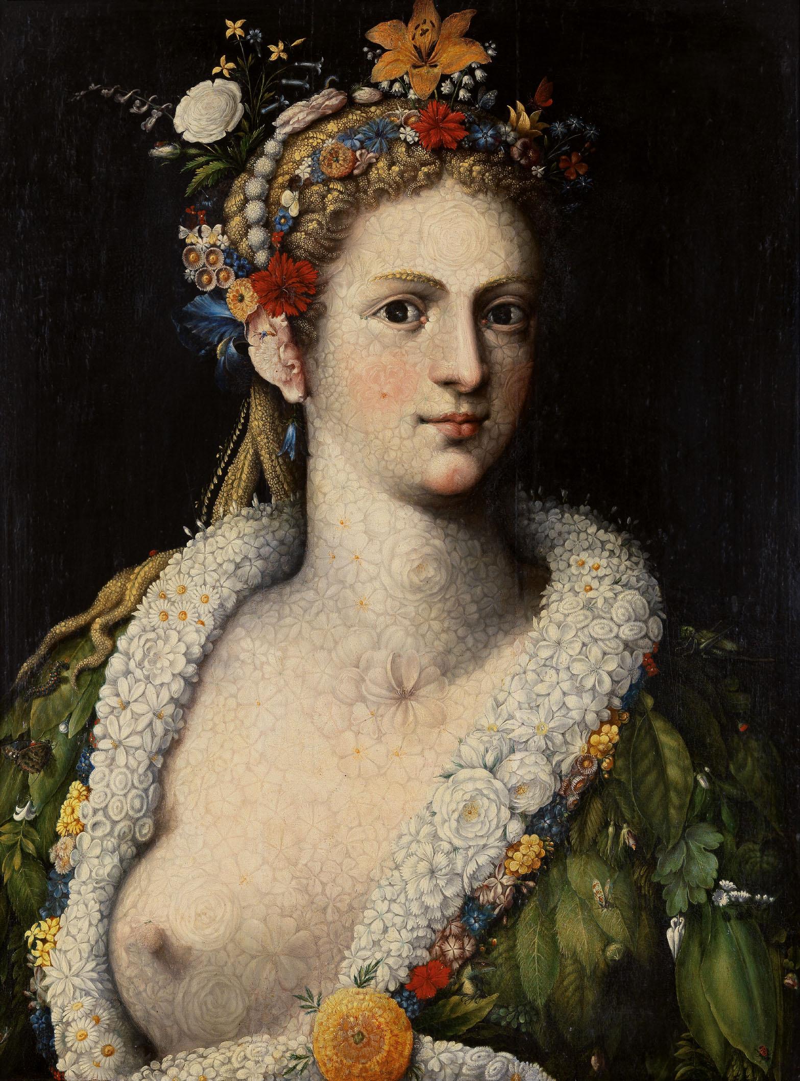 Flora Meretrix 1590 by Giuseppe Arcrimboldo