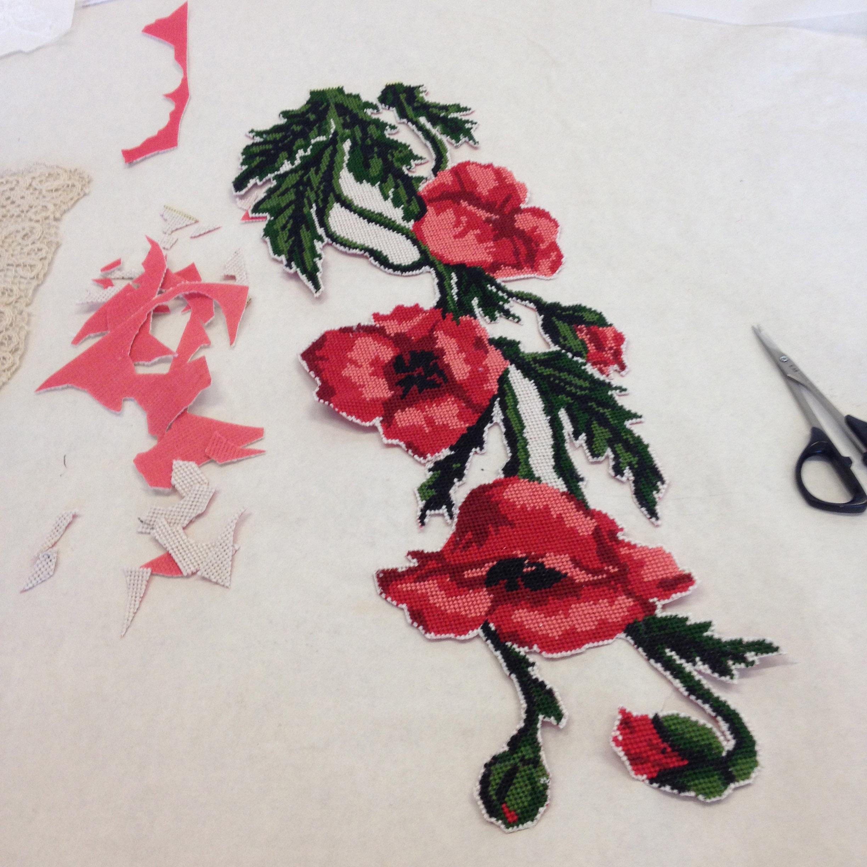 Needlepoint Poppies
