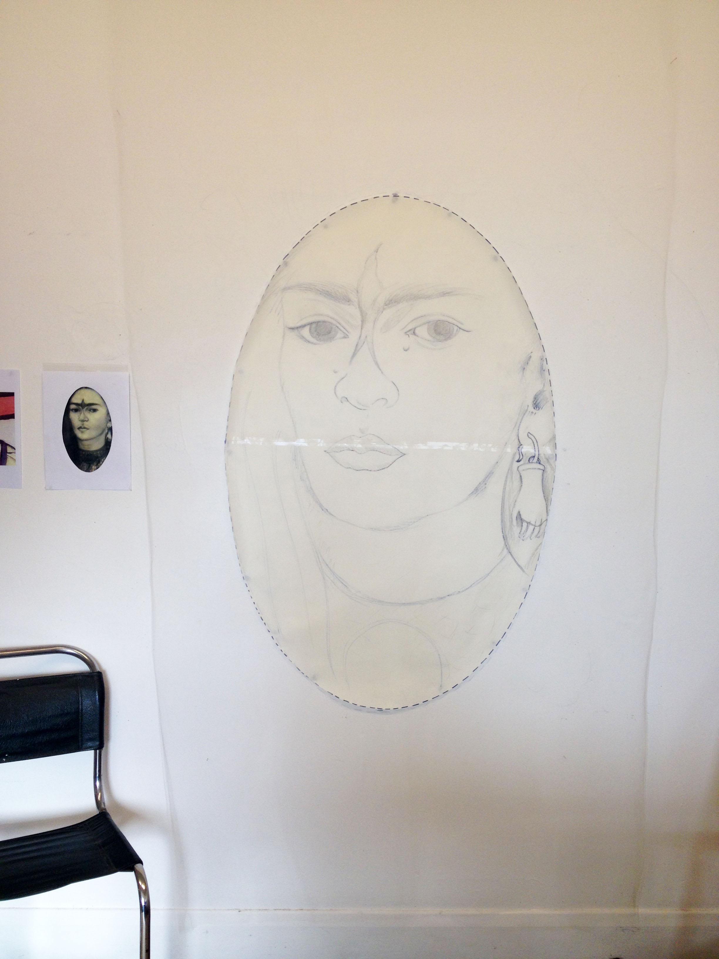 Frida - Lover's Eye #1, 2016 in progress