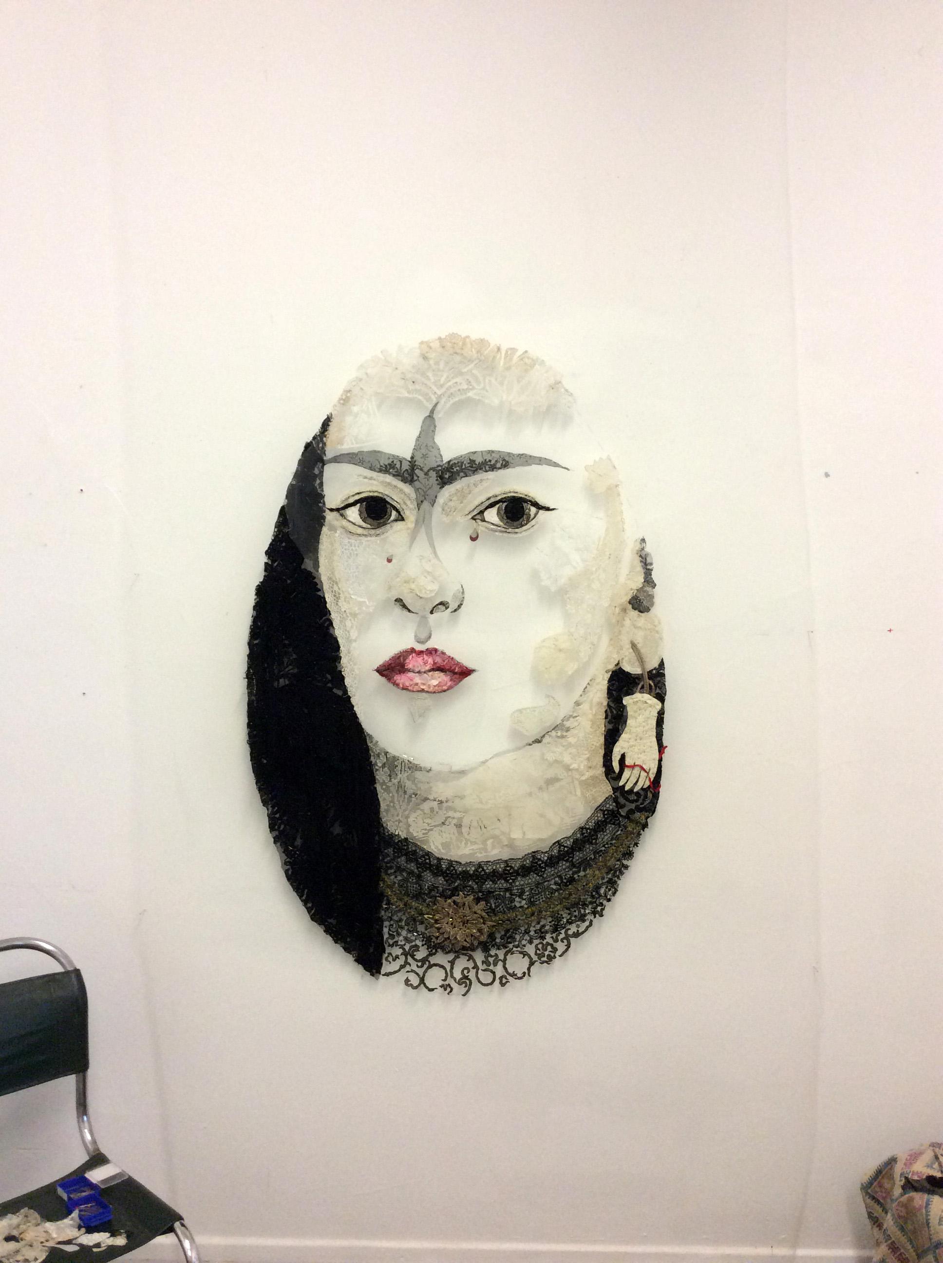 """Lover's Eye #1 - after Kahlo 1945"" in progress"