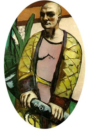 Self Portrait with Saxaphone by Max Beckman, 1930