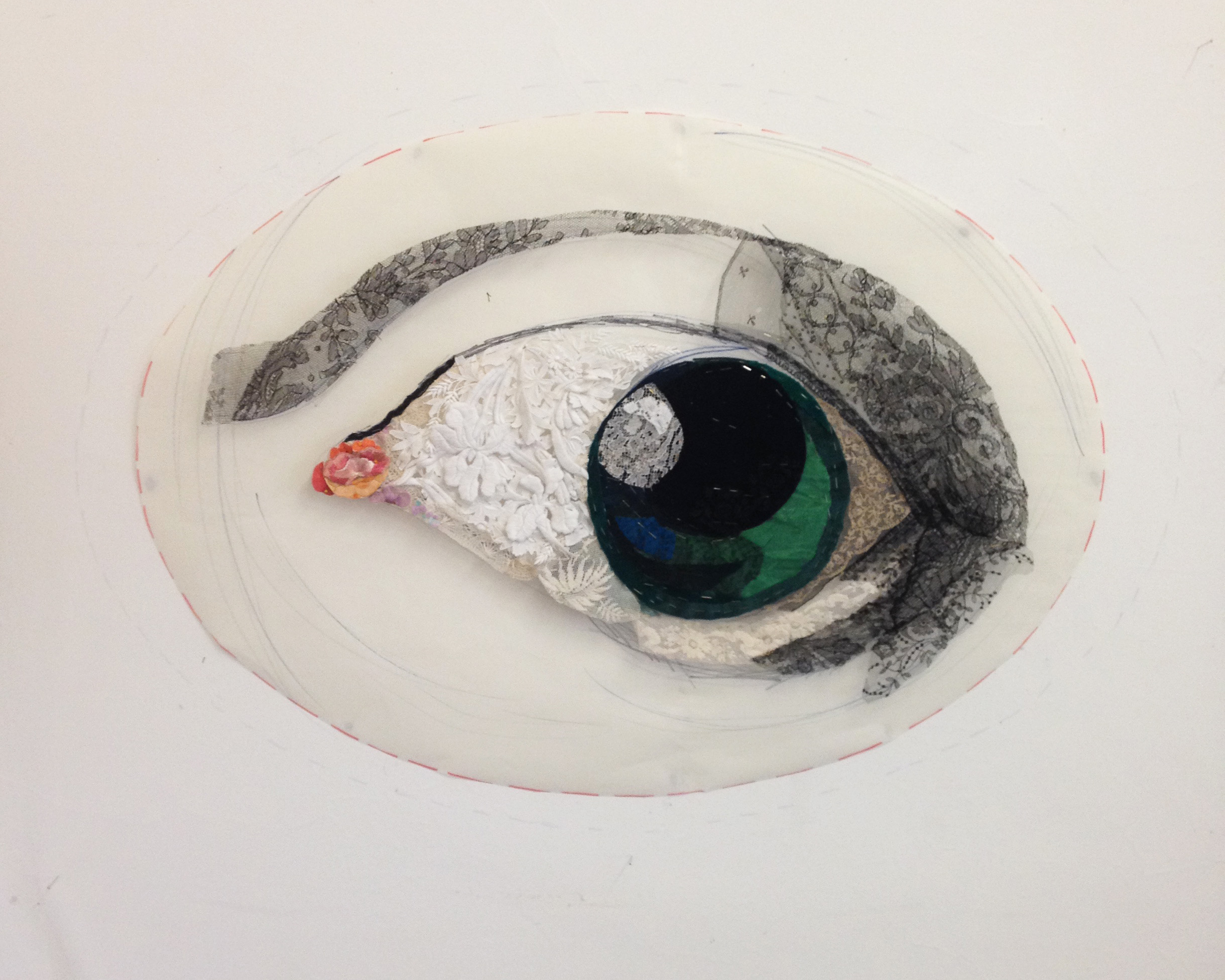 Lover's Eye #1 2016 after Vermeer - in progress