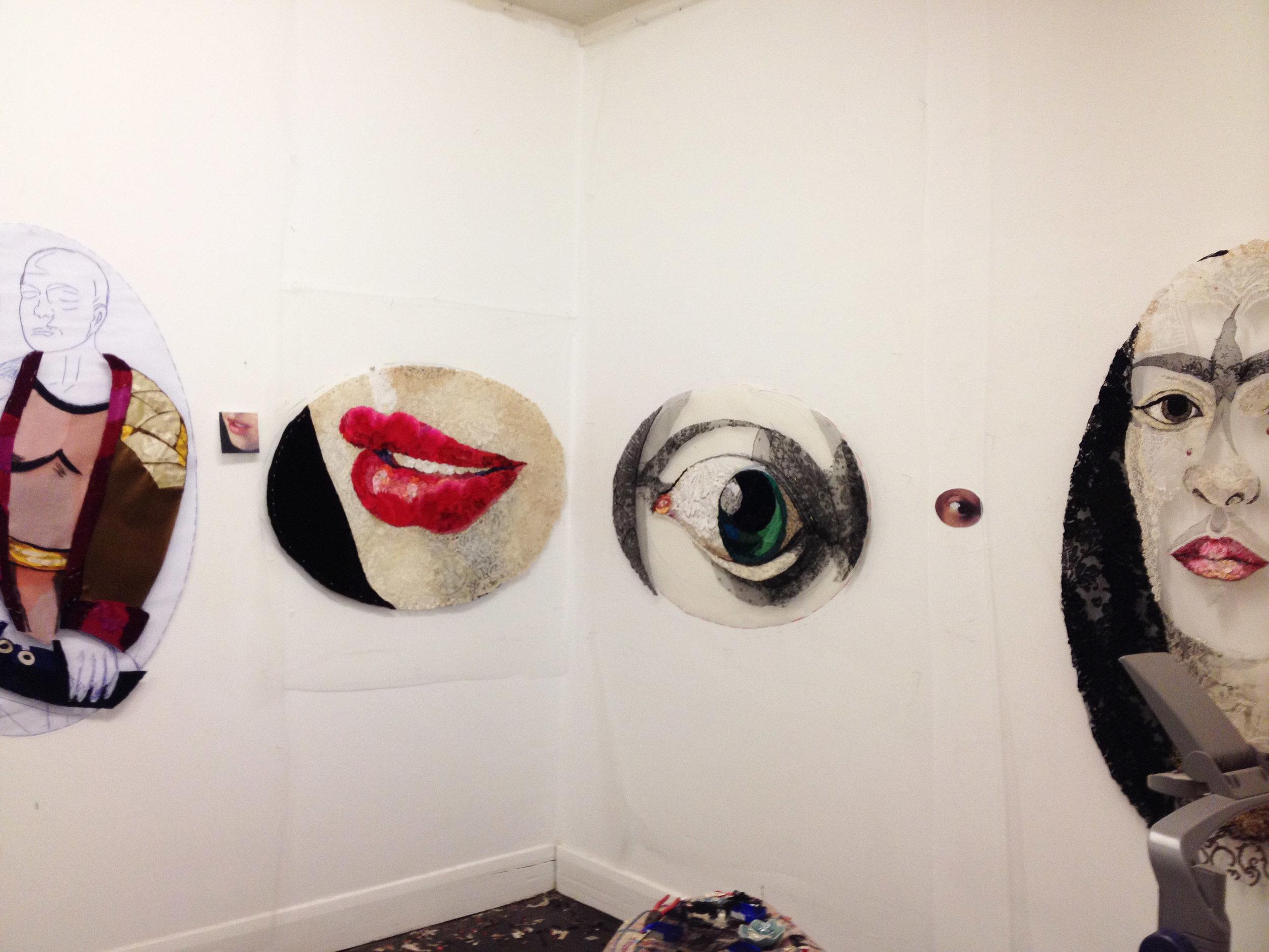 "Four works in progress for ""Lover's Eye Series"""