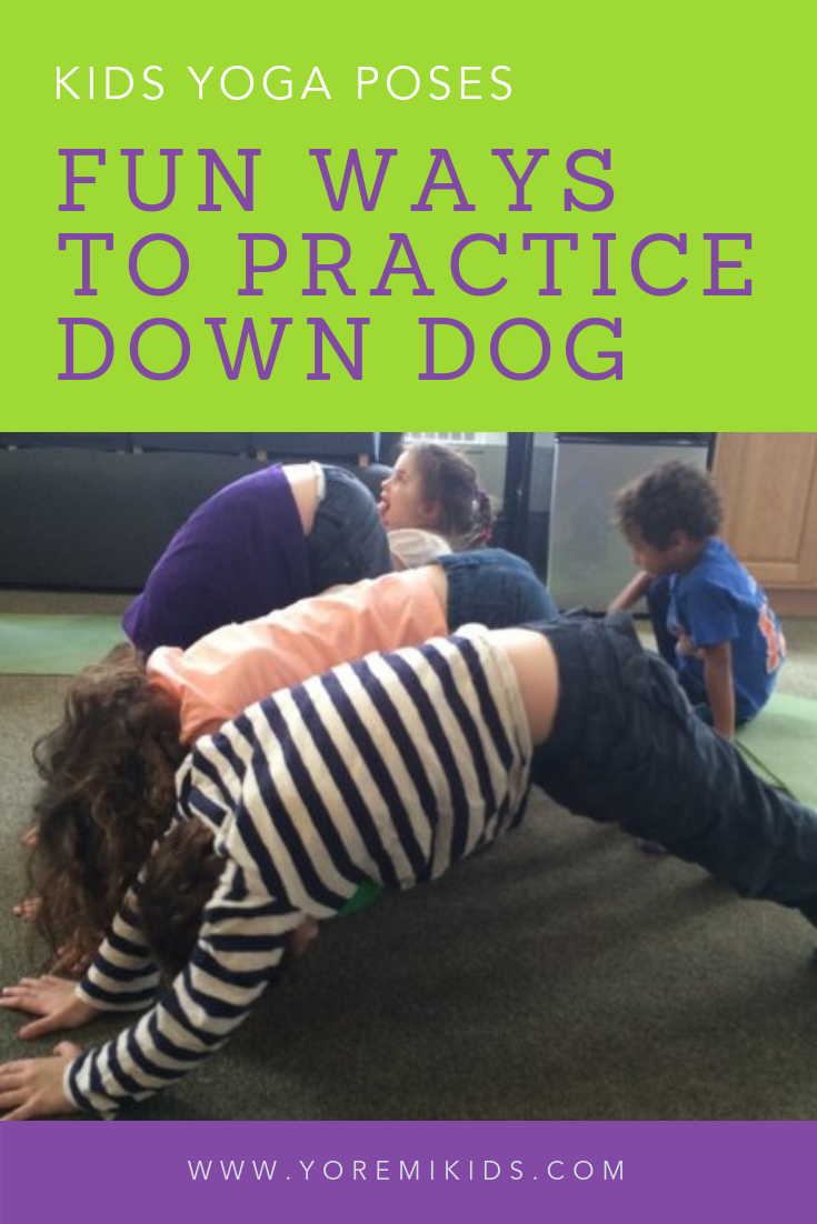 Fun downward facing dog variations for kids yoga