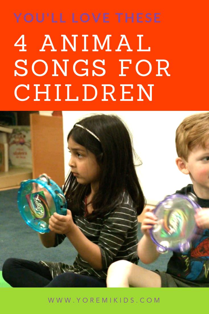 Animal song ideas for children - YRM