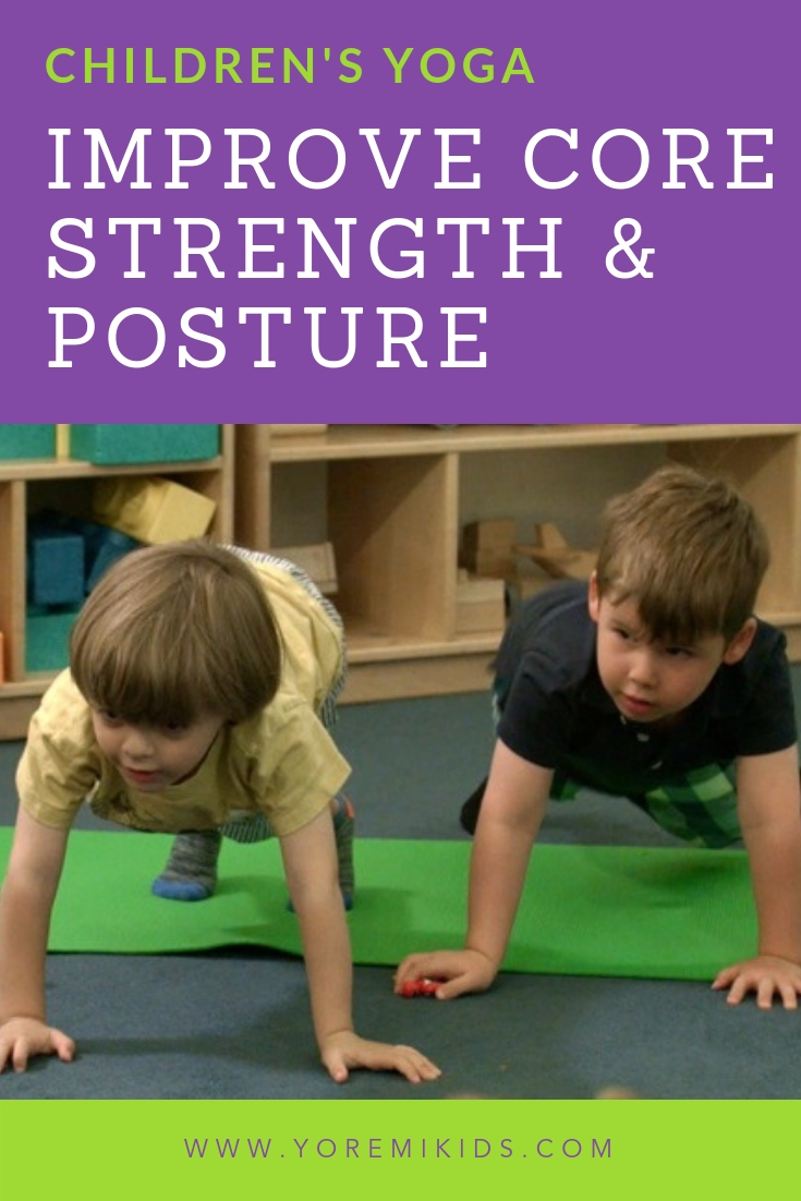 Help kids build core strength with fun plank pose yoga variations - YRM