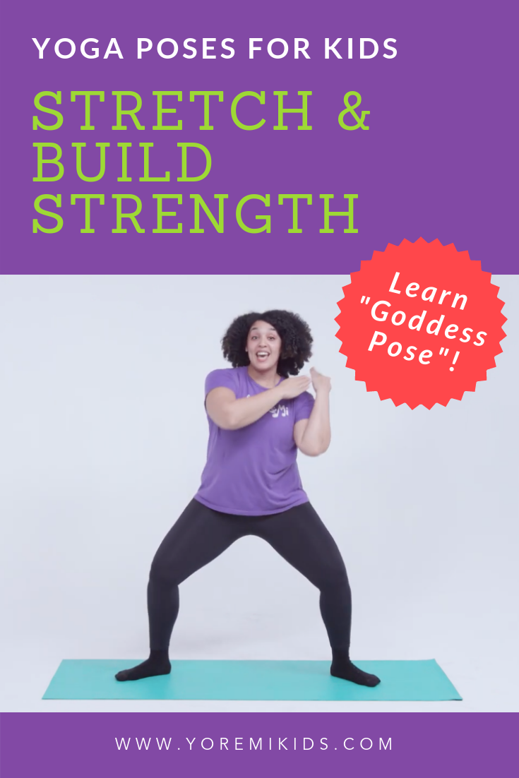 Goddess pose - Yoga for children and adults - Strengthening and stretching exercises with yoga - YRM