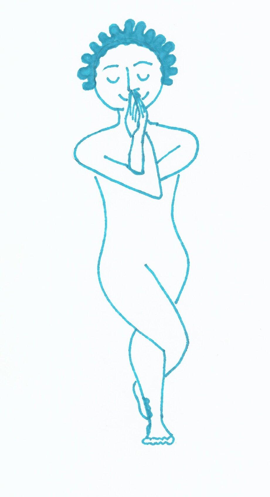 Eagle pose variation (YOGA)