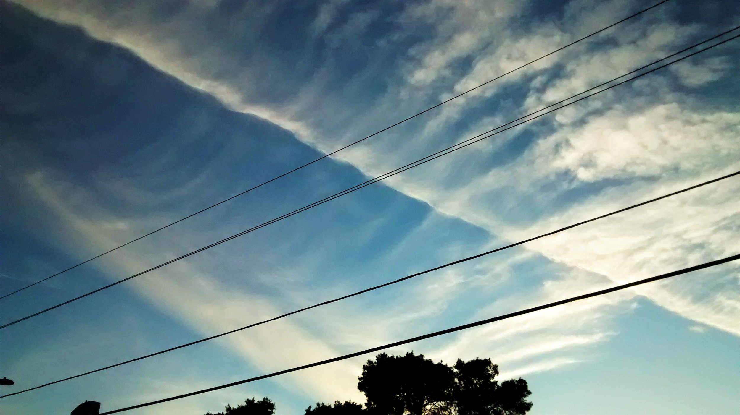 You can just look up… - …and watch the formation of chemical clouds.