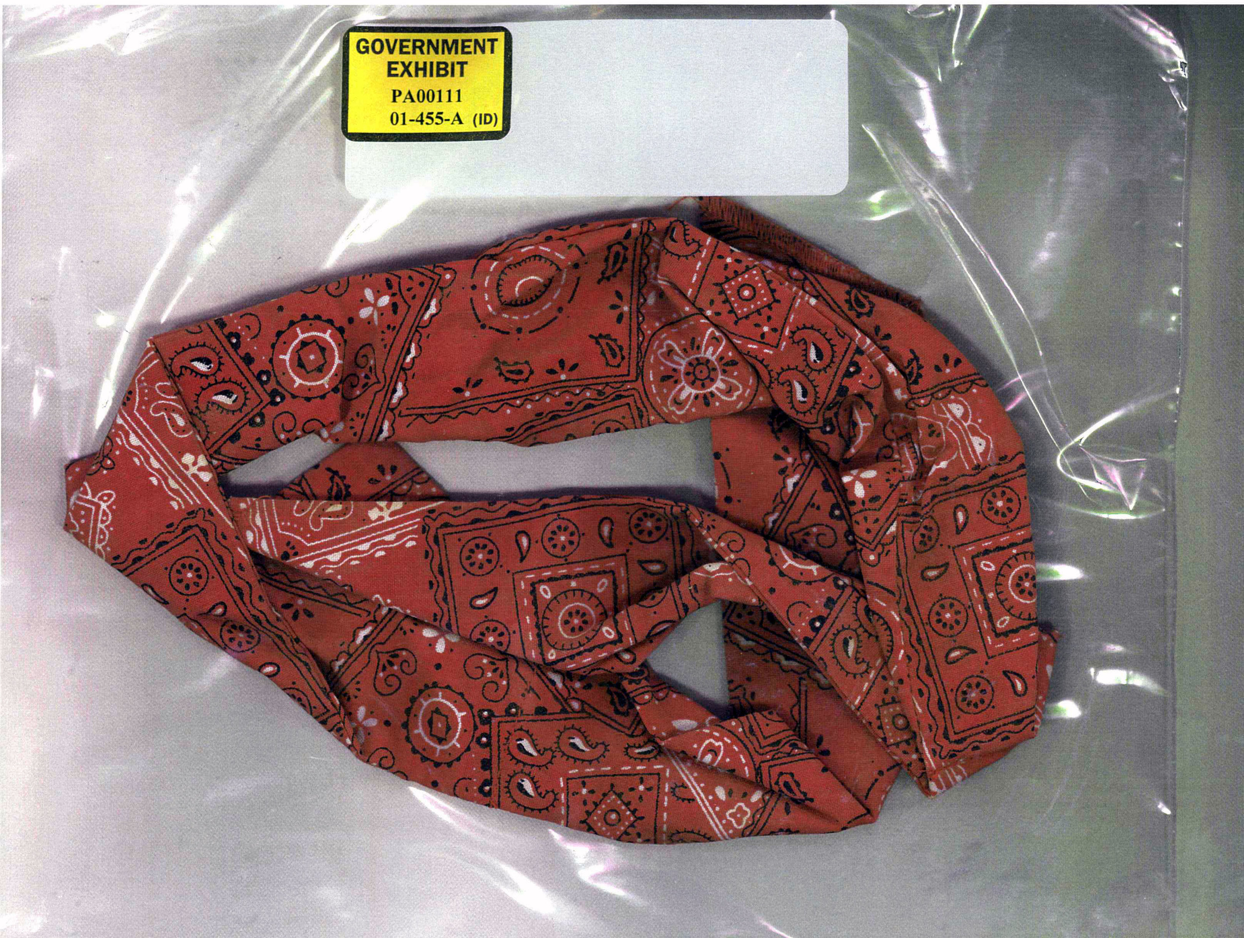 """evidence""? How was this bandana, identified as belonging to a terrorist, able to be found in pristine condition when bodies were were destroyed to the point where Coroner Wallace miller stated"